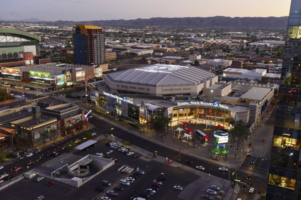 Talking Stick Resort Arena Aerial View